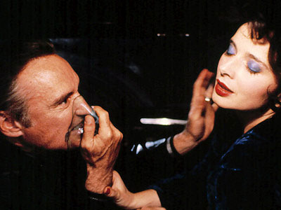 Dennis Hopper and Isabella Rossellini in Blue Velvet