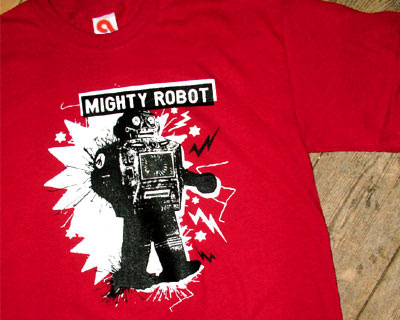 mighty robot t-shirt