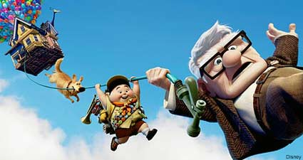 Wilderness Explorer Russell and Carl Fredericksen in Up