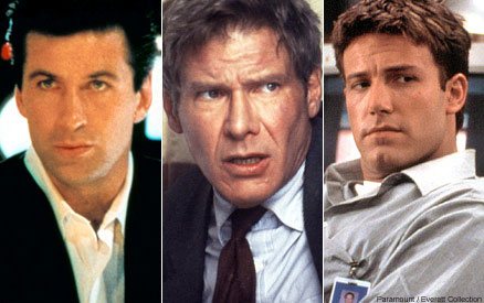 Alec Baldwin Harrison Ford and Ben Affleck as Jack Ryan