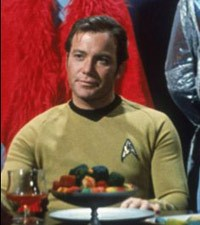William Shatner as Captain Kirk in Star Trek
