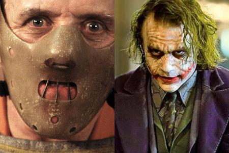 Anthony Hopkins in 'The Silence of the Lambs,' Heath Ledger in 'The Dark Knight'