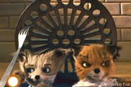Kristofferson (Eric Chase Anderson) and Ash (Jason Schwartzman) in Fantastic Mr Fox