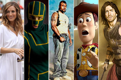 Sex and the City 2, Kick-Ass, The A team, Toy Story 3, Prince of Persia