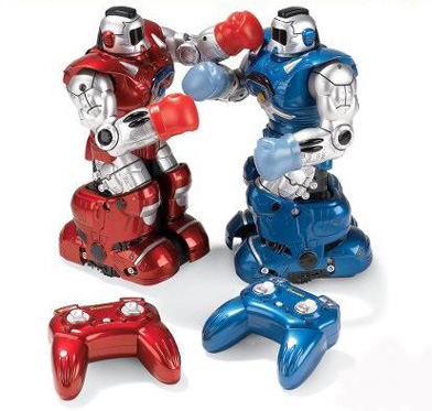 Hammacher Schlemmer's RC boxing robot toys