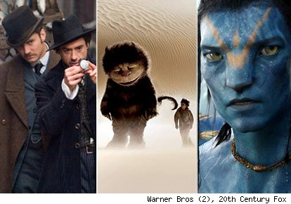 Sherlock Holmes, Where The Wild Things Are and Avatar
