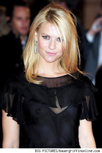 Claire Danes wears a see-through dress at the Me and Orson Welles premiere