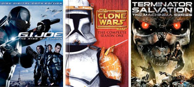 g.i. joe clone wars, terminator dvd