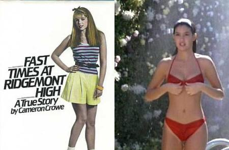 L to R: 'Fast Times at Ridgemont High,' the book and the movie