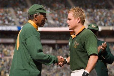 Morgan Freeman and Matt Damon in 'Invictus'