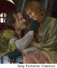 Heath Ledger and Lily Cole in 'The Imaginarium of Dr. Parnassus'