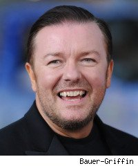 Ricky Gervais hosting Golden Globes