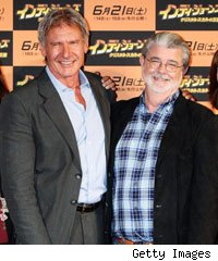 Harrison Ford and George Lucas