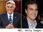 Jay Leno and Joaquin Phoenix