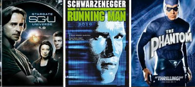stargate universe, running man, phantom dvd blu-ray
