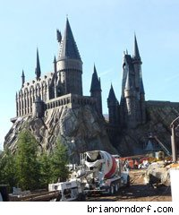 Hogwarts Castle at the Wizarding World of Harry Potter in Orlando, Florida
