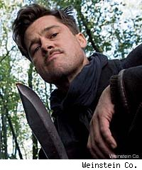 Brad Pitt is leader of the title gang in 'Inglourious Basterds'