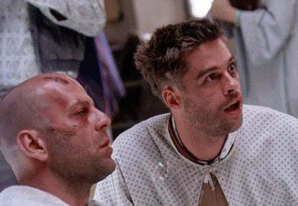 Bruce Willis and Brad Pitt in Terry Gilliam's 'Twelve Monkeys'
