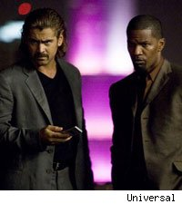 Colin Farrell and Jamie Foxx in Miami Vice