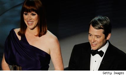 Molly Ringwald and Matthew Broderick