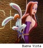 Roger and Jessica Rabbit in 'Who Framed Roger Rabbit?'
