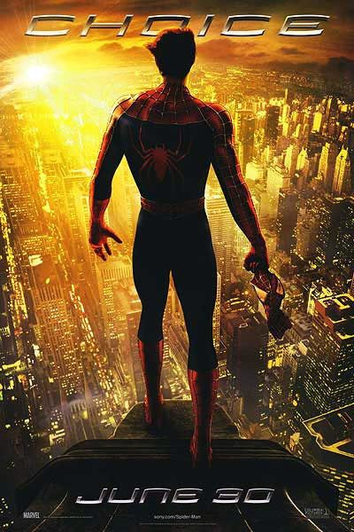 "Sci-Fi Movie Poster of the Day: Spider-Man 2 ""Choice ... Tobey Maguire Moviefone"