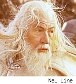 Ian McKellen as Gandalf in Lord of the Rings
