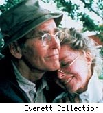 Fonda and Hepburn in 'On Golden Pond'