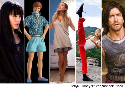Angelina Jolie, Ken from Toy Story 3, Sarah Jessica Parker, Jaden Smith, Jake Gyllenhaal