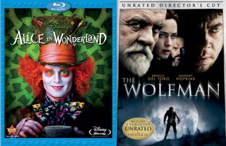 'Alice in Wonderland,' 'The Woflman'