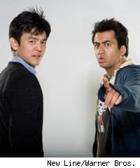John Cho and Kal Penn as Harold & Kumar