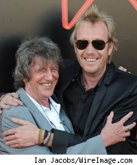 Howard Marks and Rhys Ifans attends screening of Mr Nice at the Edinburgh International Film Festival