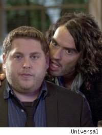 Russell Brand and Jonah Hill in 'Get Him to the Greek'