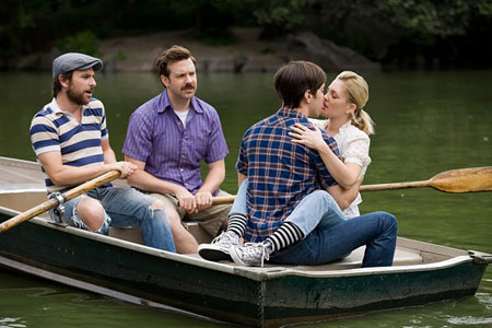 Chris Day, Jason Sudeikis, Justin Long and Drew Barrymore in 'Going the Distance' (Warner Bros.)