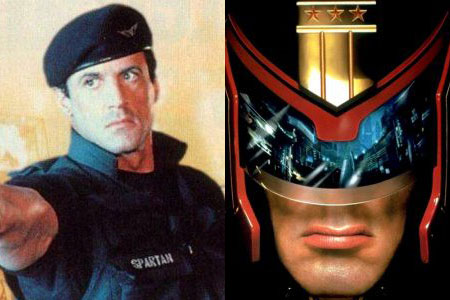 Sylvester Stallone in 'Demolition Man' and 'Judge Dredd'