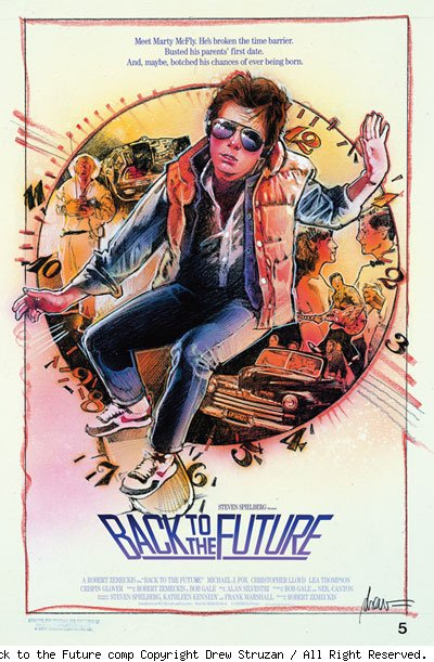 Back to the Future comp © Copyright Drew Struzan / All Right Reserved.