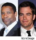 Denzel Washington and Chris Pine