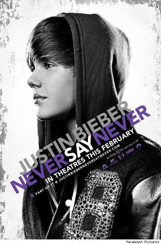 justin bieber black and white poster. Because a 3-D Justin Bieber
