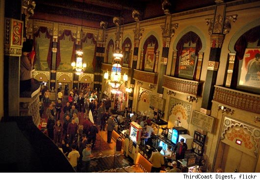 View of the lobby of the Oriental Theater in Milwaukee, WI.
