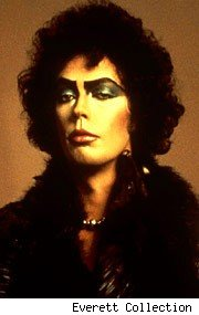 Dr. Frank-N-Furter (Tim Curry) in 'The Rocky Horror Picture Show' (1975).