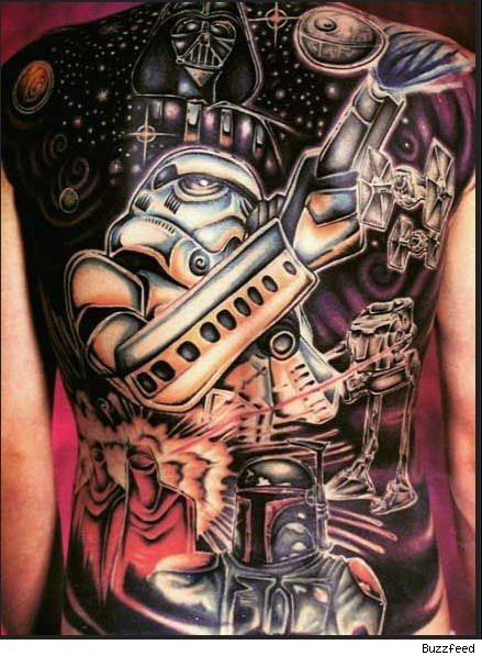 star wars girl tattoo. Hey, you go girl!
