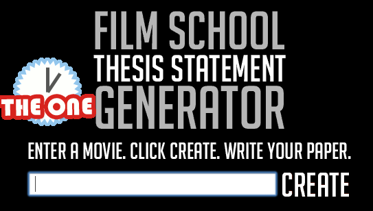 movie thesis generator
