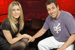 'Just Go With It' Unscripted Interview with Jennifer Aniston and Adam Sandler