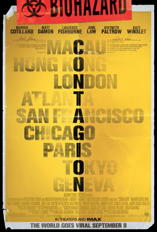 Awesome New Biohazard Poster for 'Contagion' - The Moviefone Blog