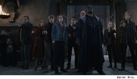 Battle at Hogwarts in Deathly Hallows Part II