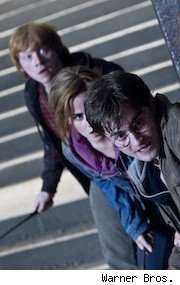 Dan Radcliffe, Emma Watson and Rupert Grint