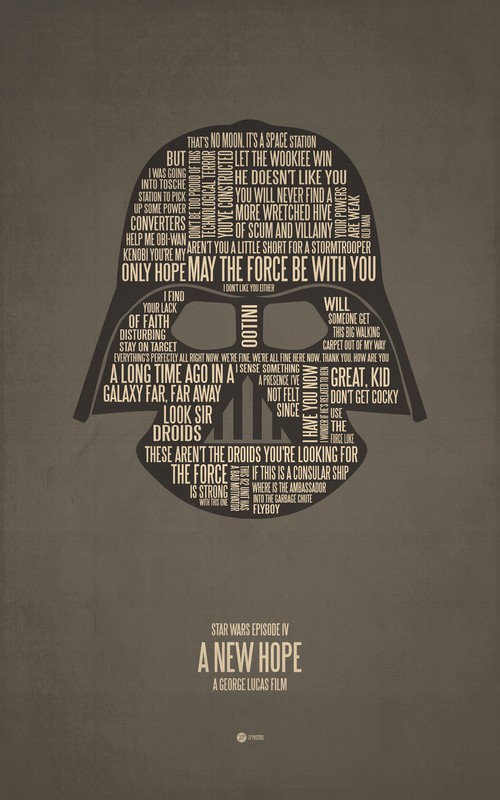 Today In Awesome Movie Posters: Posters Made From Famous Quotes