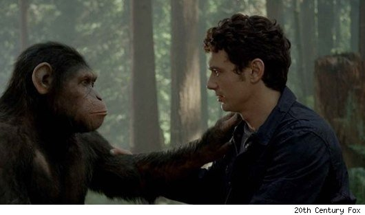 caesar james franco rise apes Apes Still Top Banana: Box Office Report August 12 14