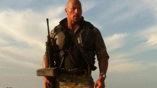 roadblock The Rock Tweets a Photo of Himself on the Set of G.I. Joe 2: Retaliation