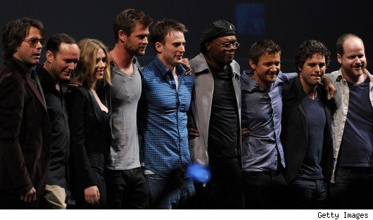 the avengers cast Avengers Cast Assembles Again, This Time at D23